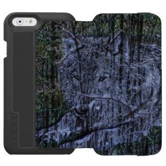 Wild camouflage woodland wildlife Grey wolf Incipio Watson™ iPhone 6 Wallet Case