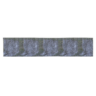 Wild camouflage woodland wildlife Grey wolf Short Table Runner