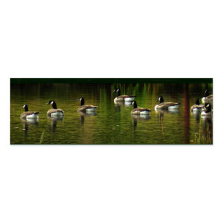 Wild Canada Geese Bookmark Business Card Template