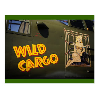 'Wild Cargo' Nose Art Postcard