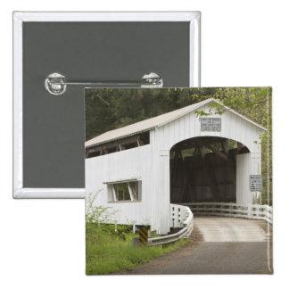 Wild Cat covered bridge, Lane County, Oregon Button