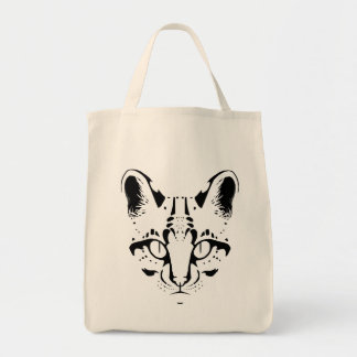Wild Cat Lineart Tote