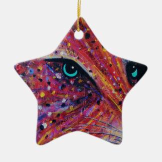 Wild Cat -Painting from 2015 Ceramic Ornament