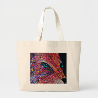 Wild Cat -Painting from 2015 Large Tote Bag