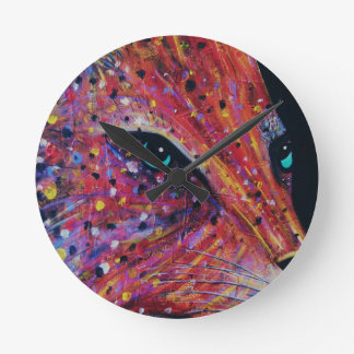 Wild Cat -Painting from 2015 Round Clock