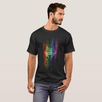 Wild Cat With Rainbow Shaing T-Shirt