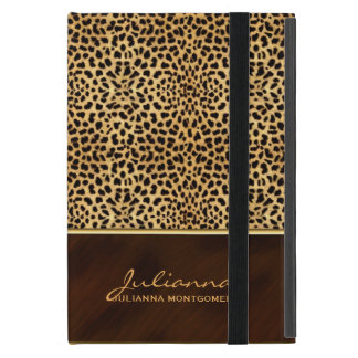 Wild Cheetah Print Custom Name Case For iPad Mini