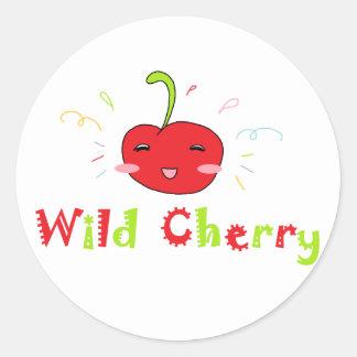 Wild Cherry Round Sticker
