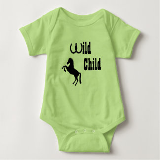 Wild Child Baby Cowboy Themed Outfit Baby Bodysuit