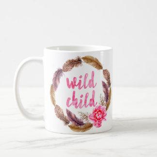 Wild Child, Feather Wreath, Bohemian Mug