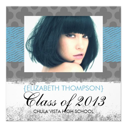 Wild Child Trendy Graduation Announcements