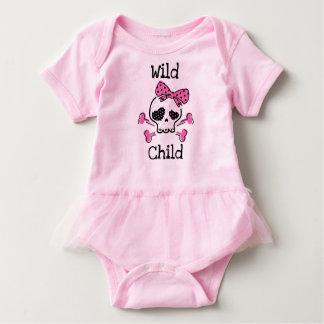 Wild child tutu onsie baby bodysuit