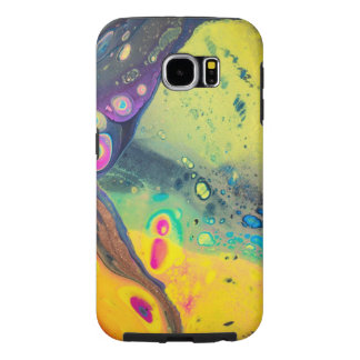 "Wild Colorful Acrylic ""Dirty Pour"" Samsung Galaxy S6 Cases"