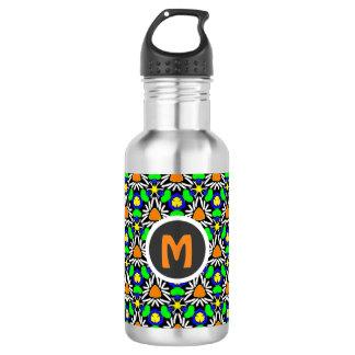Wild Crazy Triangle Daisy Garden Pattern Monogram 532 Ml Water Bottle
