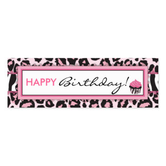Wild Cupcake WP Skinny Gift Tag Business Card Templates