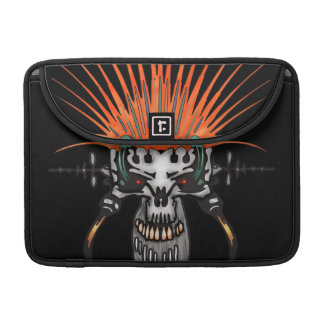 Wild Cyber Skull With Tusks Sleeve For MacBook Pro