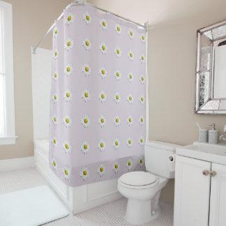 Wild Daisies White and Yellow Shower Curtain