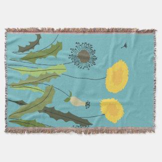 Wild Dandelion Print Throw Blanket