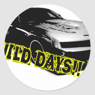 Wild Days! Classic Round Sticker
