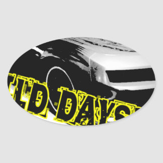 Wild Days! Oval Sticker