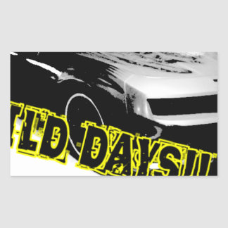Wild Days! Rectangular Sticker