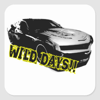 Wild Days! Square Sticker