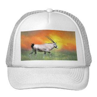 Wild deer at sunset mesh hat