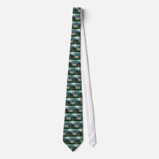 Wild Deer & Inukshuk Wilderness Neck Tie