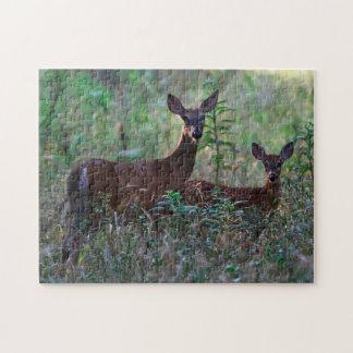 Wild Deerband Fawn Oklahoma. Jigsaw Puzzle