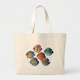 Wild Discus Large Tote Bag