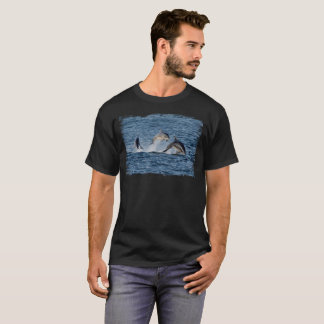 Wild Dolphins Leaping Photograph Scotland T-Shirt