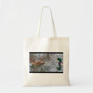 Wild Ducks Swimming Budget Tote Bag
