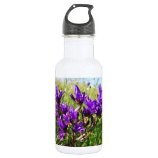 Wild elegant purple flower 532 ml water bottle