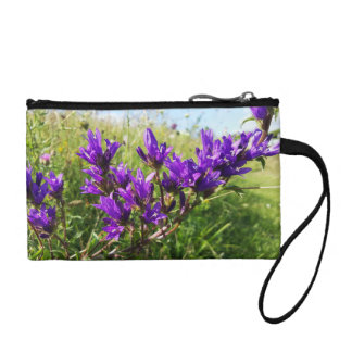 Wild elegant purple flower coin purse