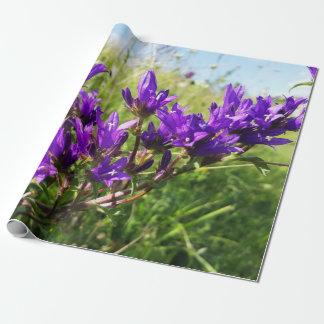 Wild elegant purple flower wrapping paper