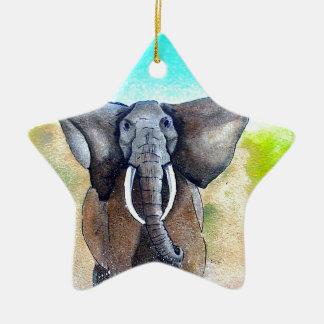 Wild Elephant Power Ceramic Star Decoration