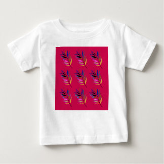 Wild ethno leaves /  feathers textile edition baby T-Shirt