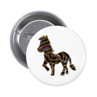 Wild Exotic Zebra - NOVINO Art101 Graphics 6 Cm Round Badge