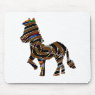 Wild Exotic Zebra - NOVINO Art101 Graphics Mouse Pad