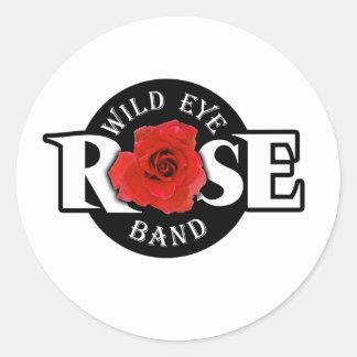 Wild Eye Rose Band Round Sticker