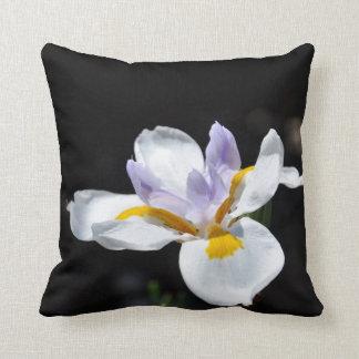 Wild Fairy Iris Flower Throw Pillows