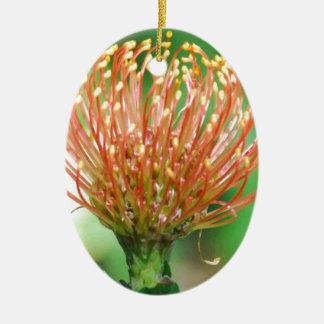 wild flower ceramic oval decoration