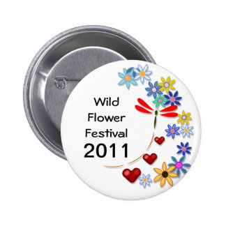 Wild Flower Festival Button