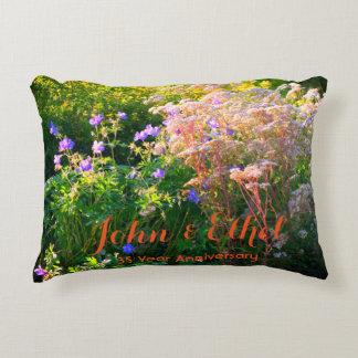 Wild Flower Field Anniversary Accent Pillow