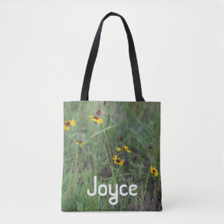 Wild flower field tote bag