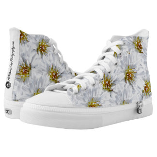 Wild Flower High Top Shoes Printed Shoes