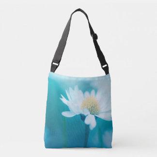 Wild flower in blue crossbody bag