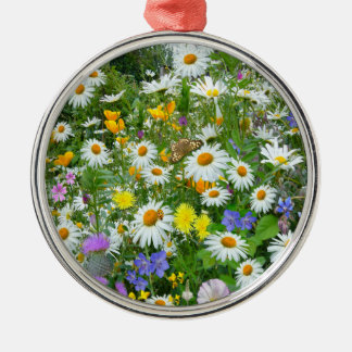 Wild Flower Meadow Metal Ornament