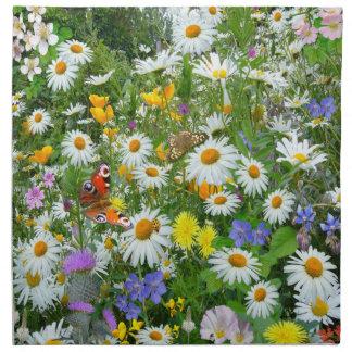 Wild Flower Meadow Printed Napkins