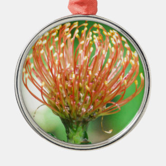 wild flower Silver-Colored round decoration